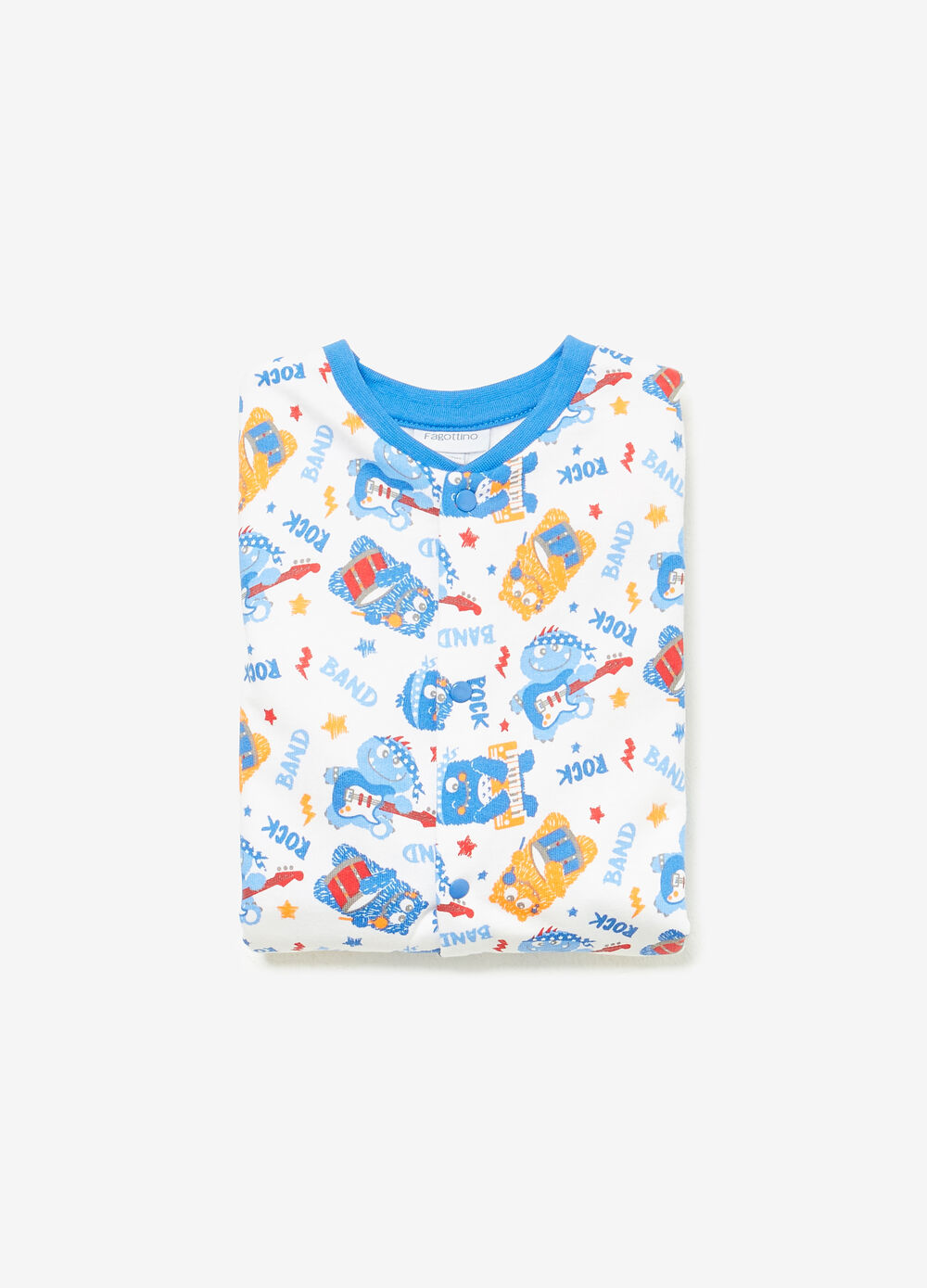 Cotton sleepsuit with monster pattern