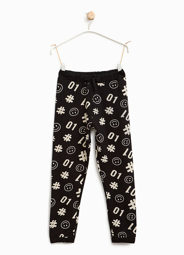Smiley print joggers | OVS