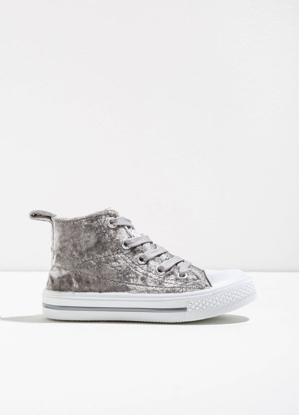High-top faux fur sneakers | OVS