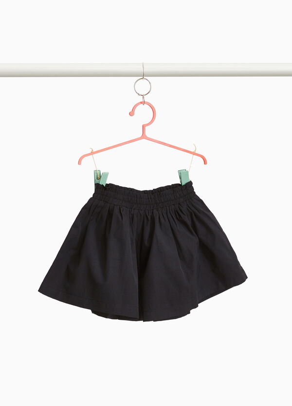 Cotton blend shorts with darts