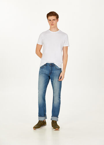 Jeans regular fit used con abrasioni