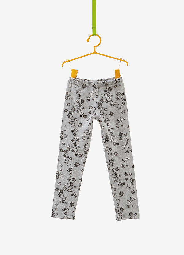 Stretch cotton floral stars leggings