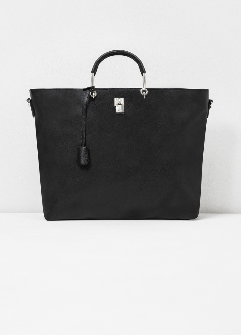 Leather-look bag with lock image number null
