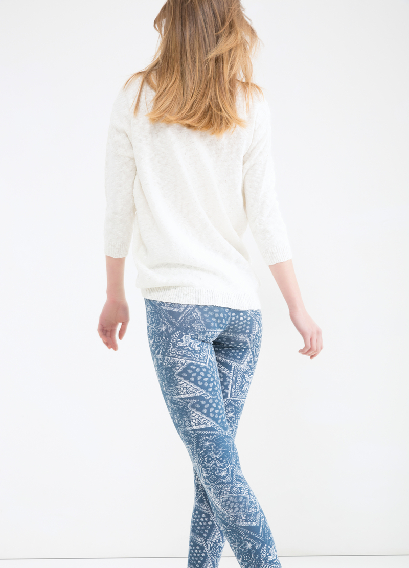 Printed stretch leggings image number null
