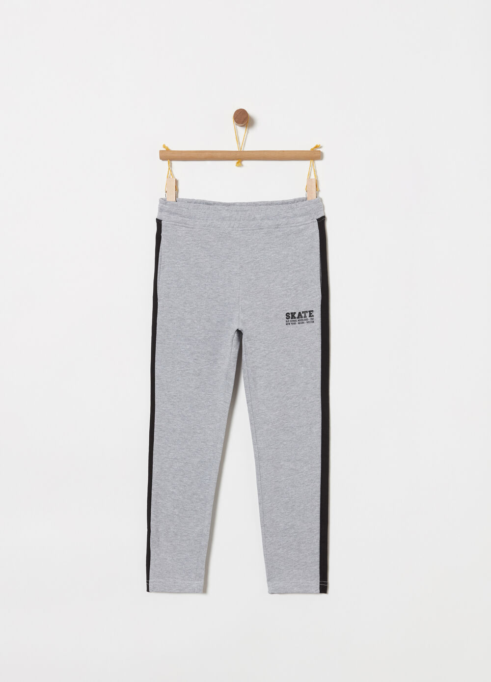 French Terry trousers with side bands