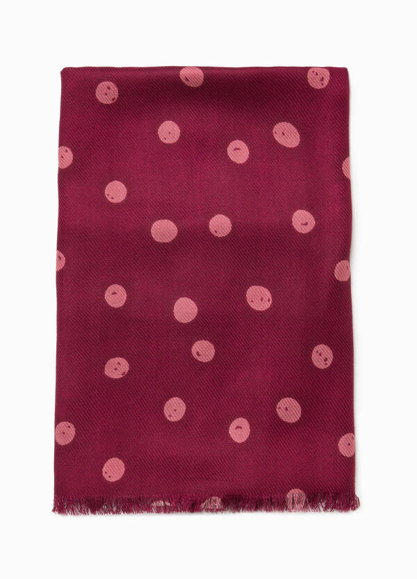 Pashmina in viscose with polka dot pattern | OVS