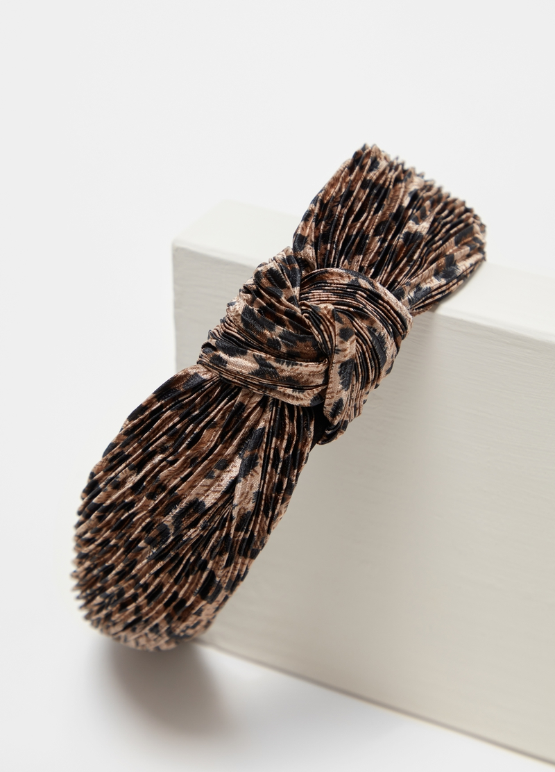 Pleated speckled Alice band image number null