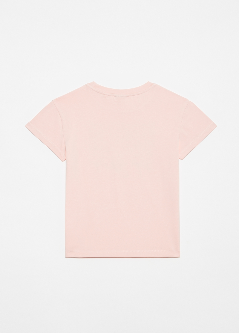 Stretch T-shirt with ballerina print image number null
