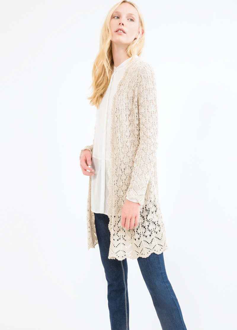 Plain long cardigan image number null