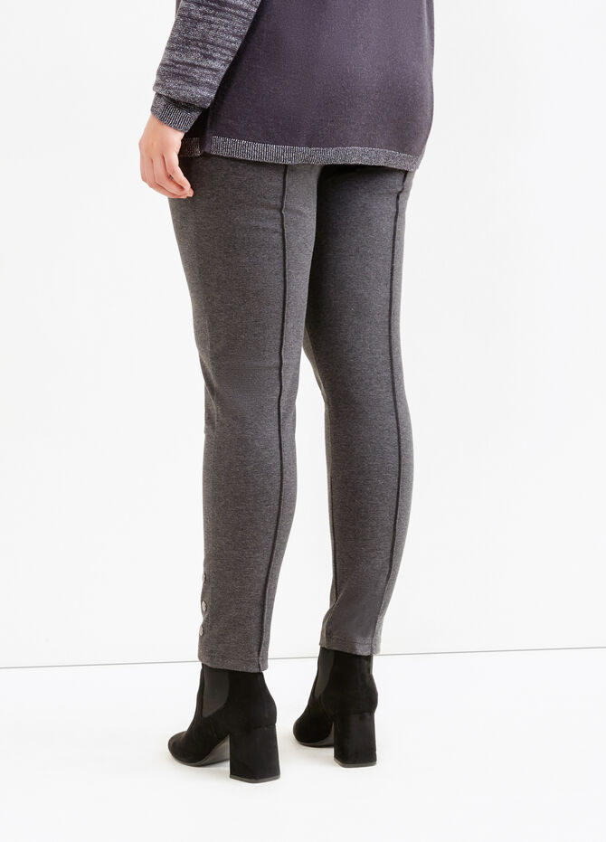 Leggings stretch con borchie Curvy