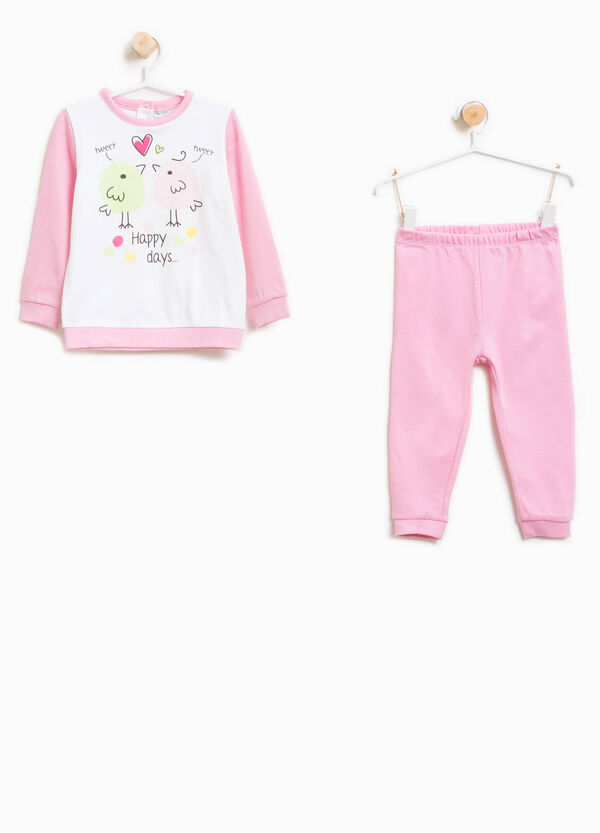 Organic cotton pyjamas with maxi print | OVS