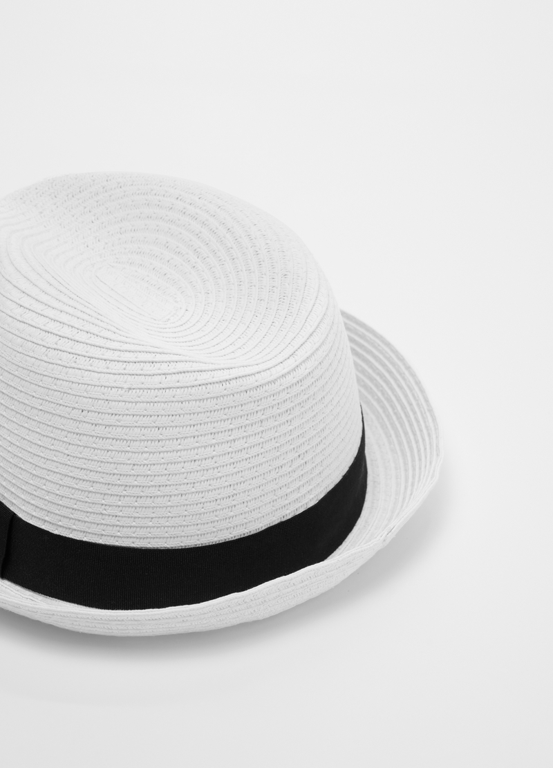 Hat with striped trim image number null