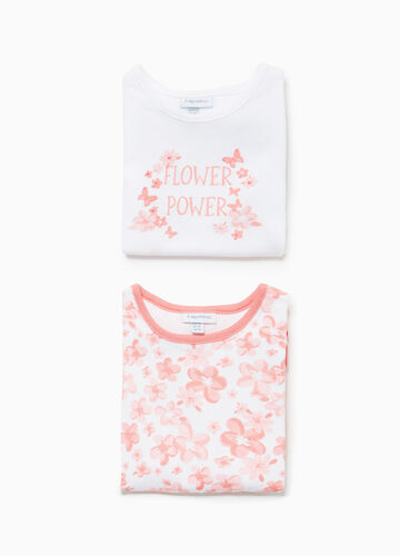 Two-pack bodysuits floral and printed