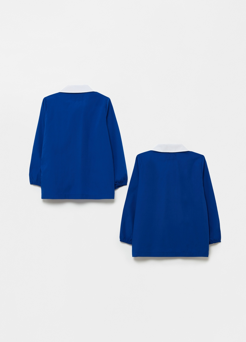 Two-pack solid colour smocks with zip image number null