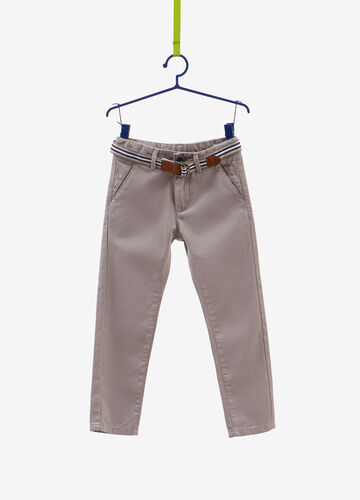 100% cotton trousers with belt