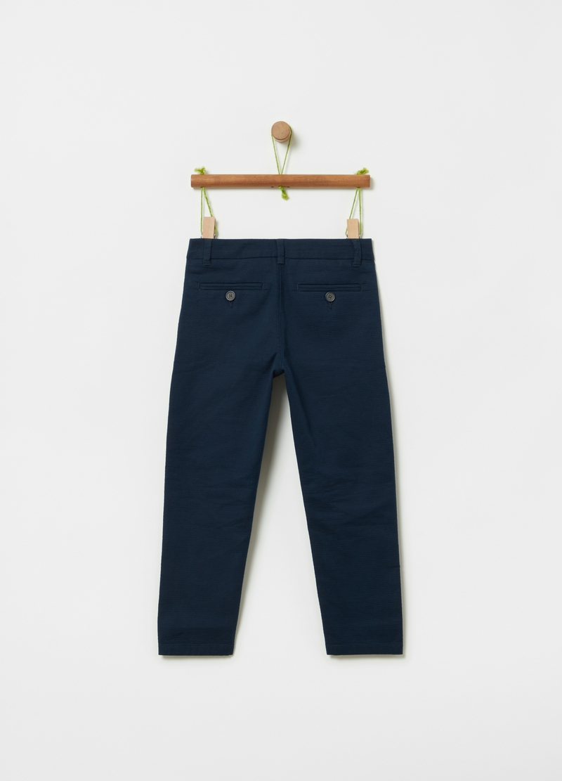 Stretch cotton trousers image number null