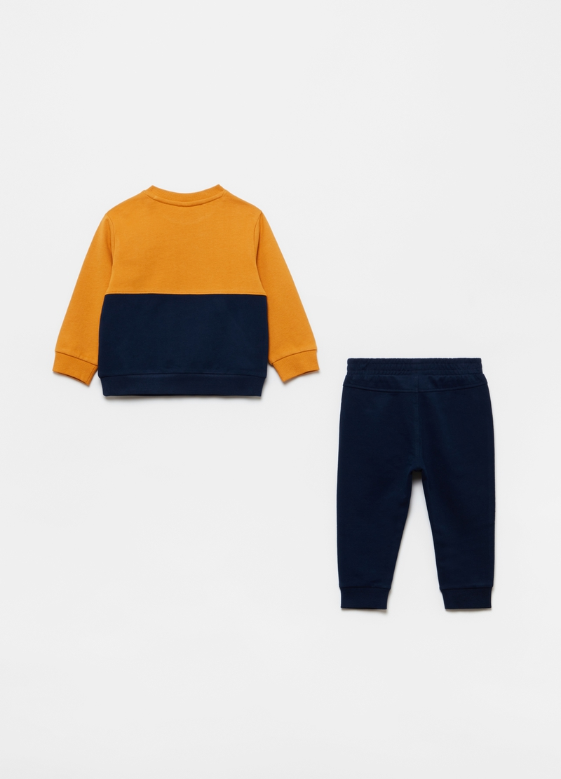 Organic cotton jogging set with monkey print image number null