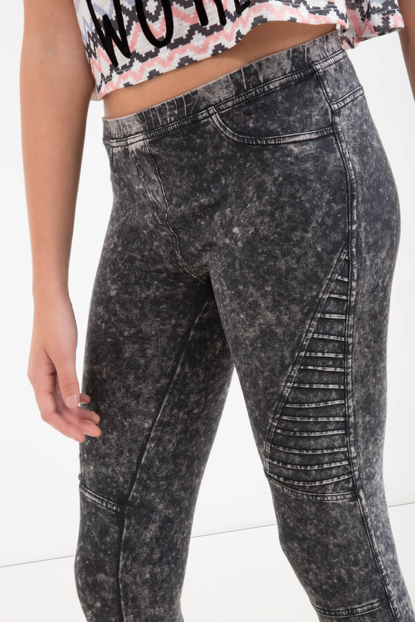 Mis-dyed Teen jeggings in cotton | OVS