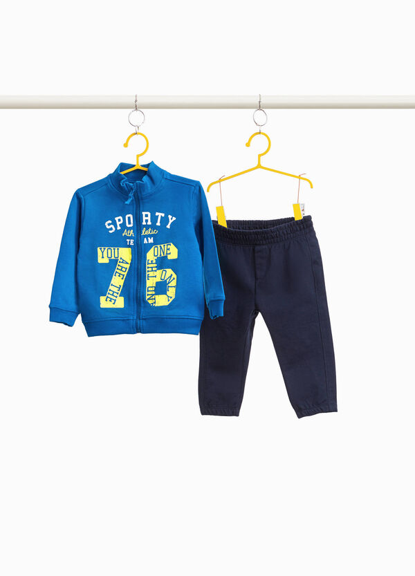 100% cotton tracksuit with printed lettering