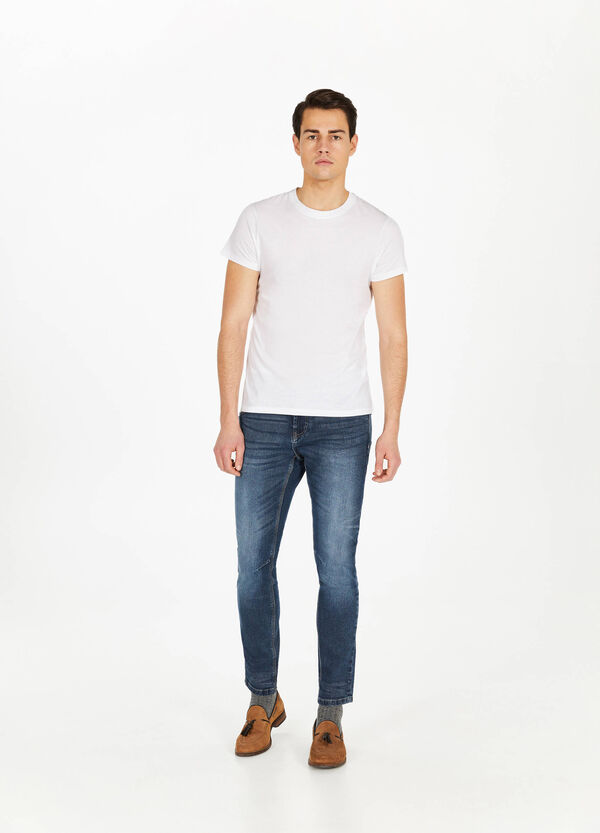 Jeans loose fit stretch used
