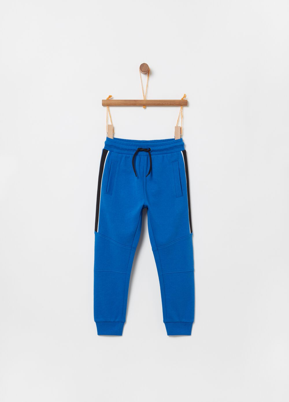 French Terry jogger trousers with drawstring