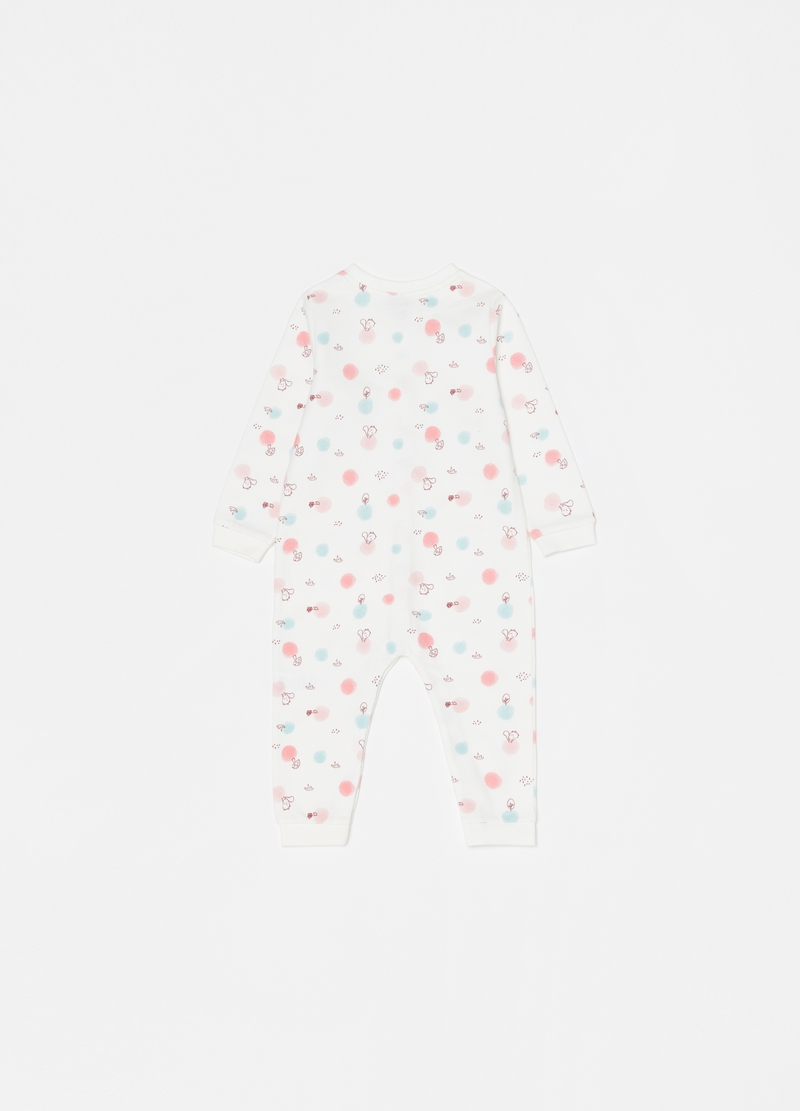 100% cotton onesie with feet and pattern image number null