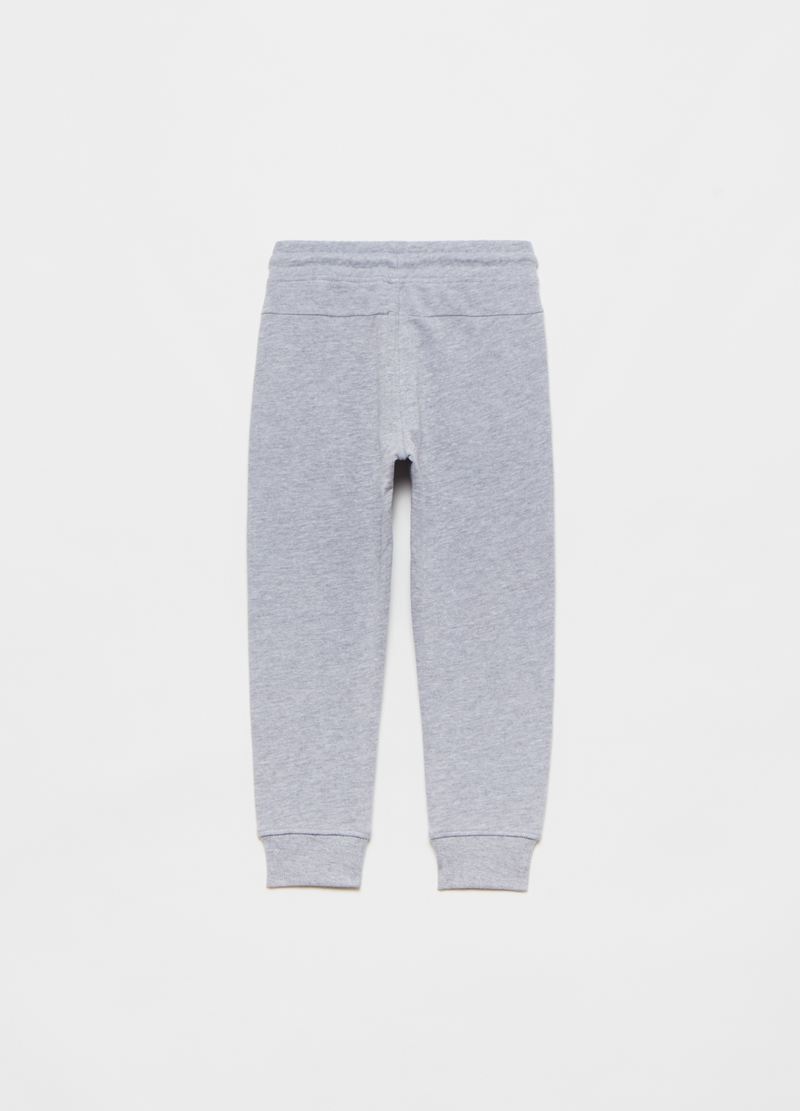 Mélange joggers in French Terry with drawstring image number null