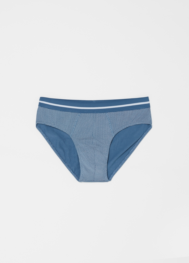 Three-pack patterned stretch cotton briefs image number null