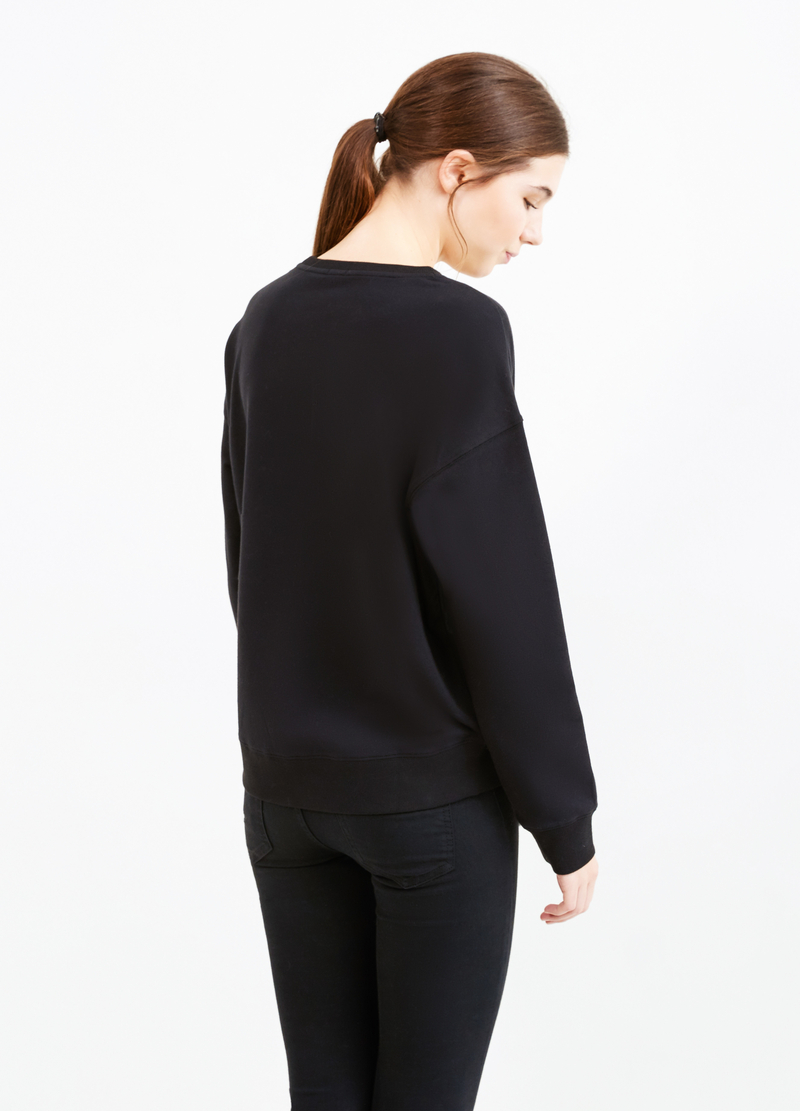 Felpa cotone stretch stampata image number null
