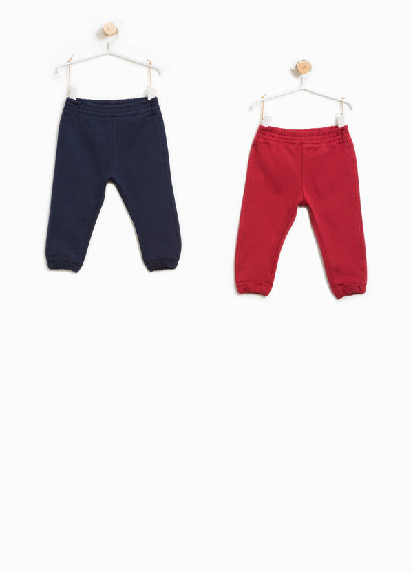 Two-pack trousers in 100% cotton