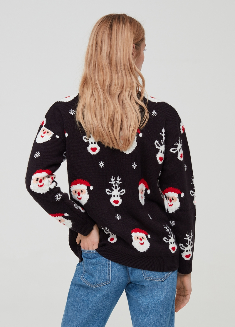 Christmas Jumper fiocchi di neve e Babbo Natale image number null