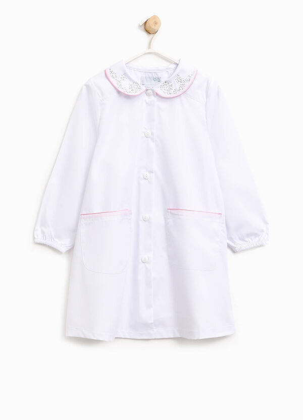 Cotton smock with diamantés and beads | OVS