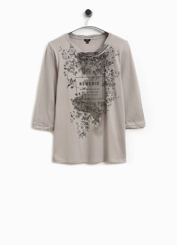 T-shirt in cotone stampata Smart Basic
