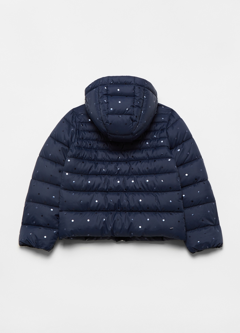 Ultralight down jacket with polka dot pattern image number null