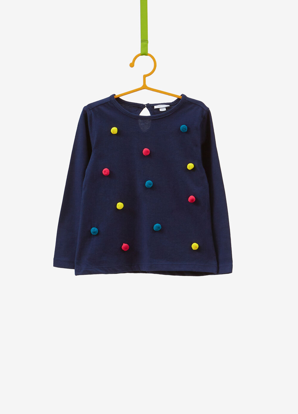 T-shirt in 100% cotton with pompoms