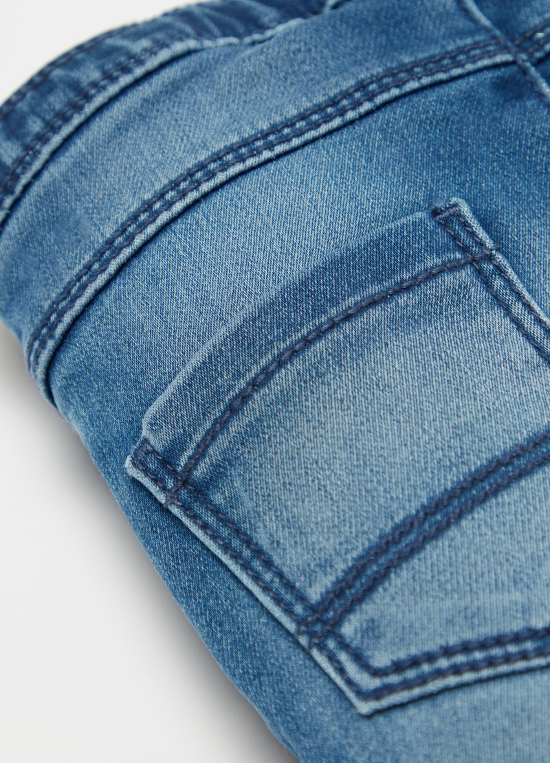 Jeans in felpa stretch con cinque tasche image number null