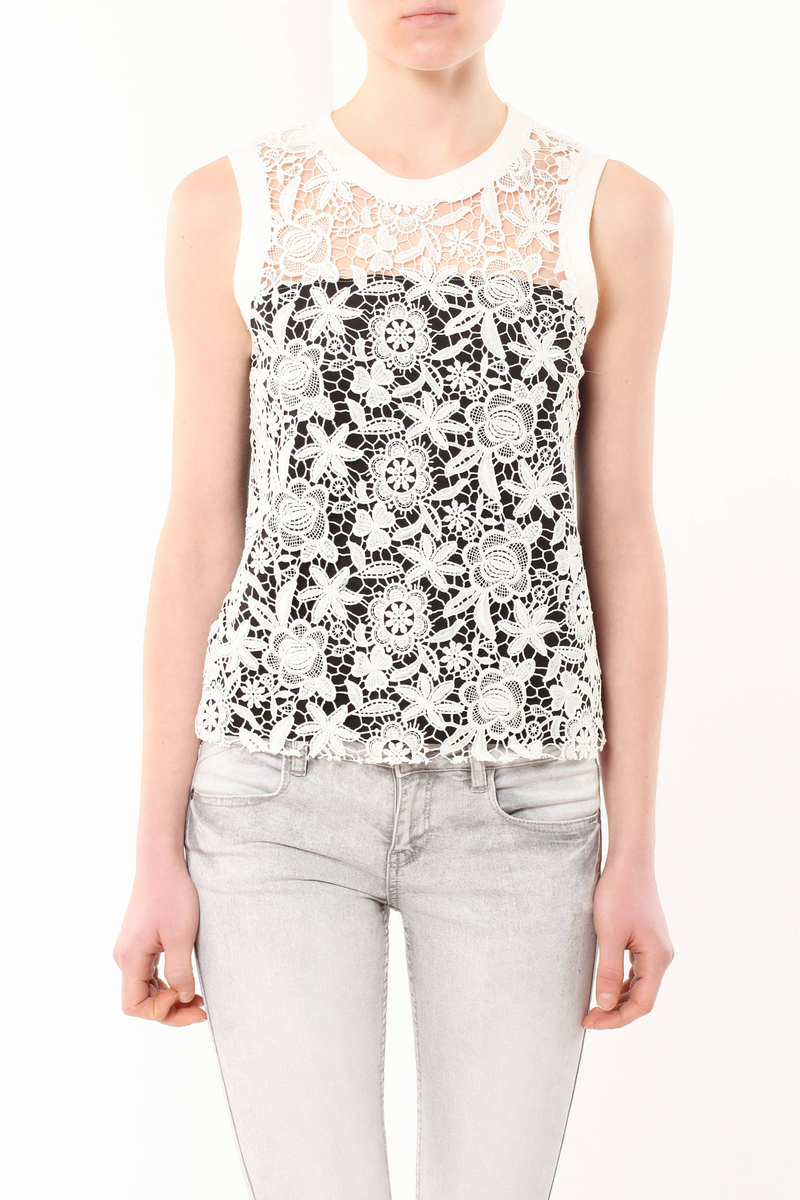 Lace tank top image number null