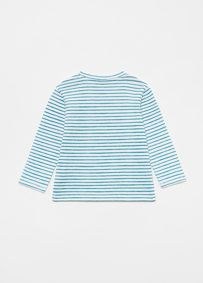 100% organic cotton T-shirt with striped print image number null