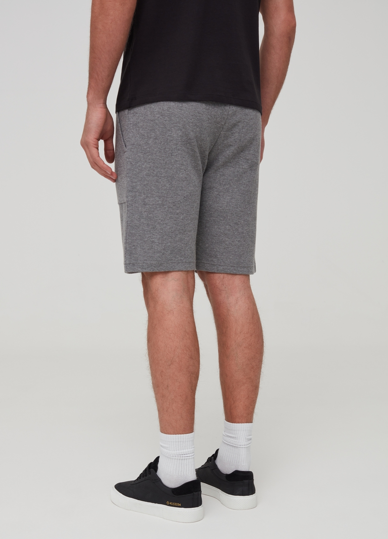 Short mélange joggers with pockets image number null
