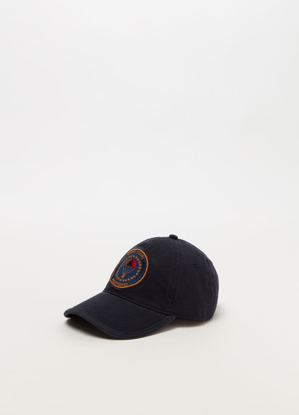 Drill baseball cap with embroidery