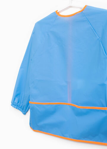 Solid colour smock with trim