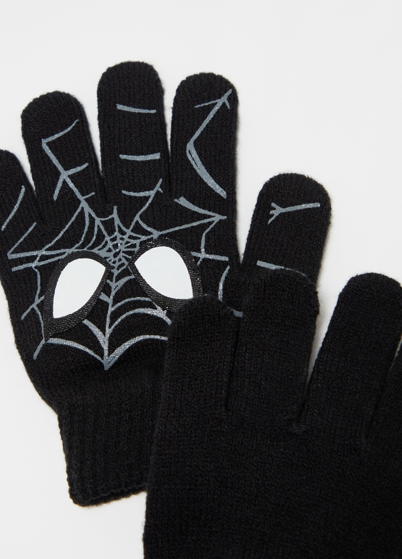 Gloves with Spider-Man print image number null