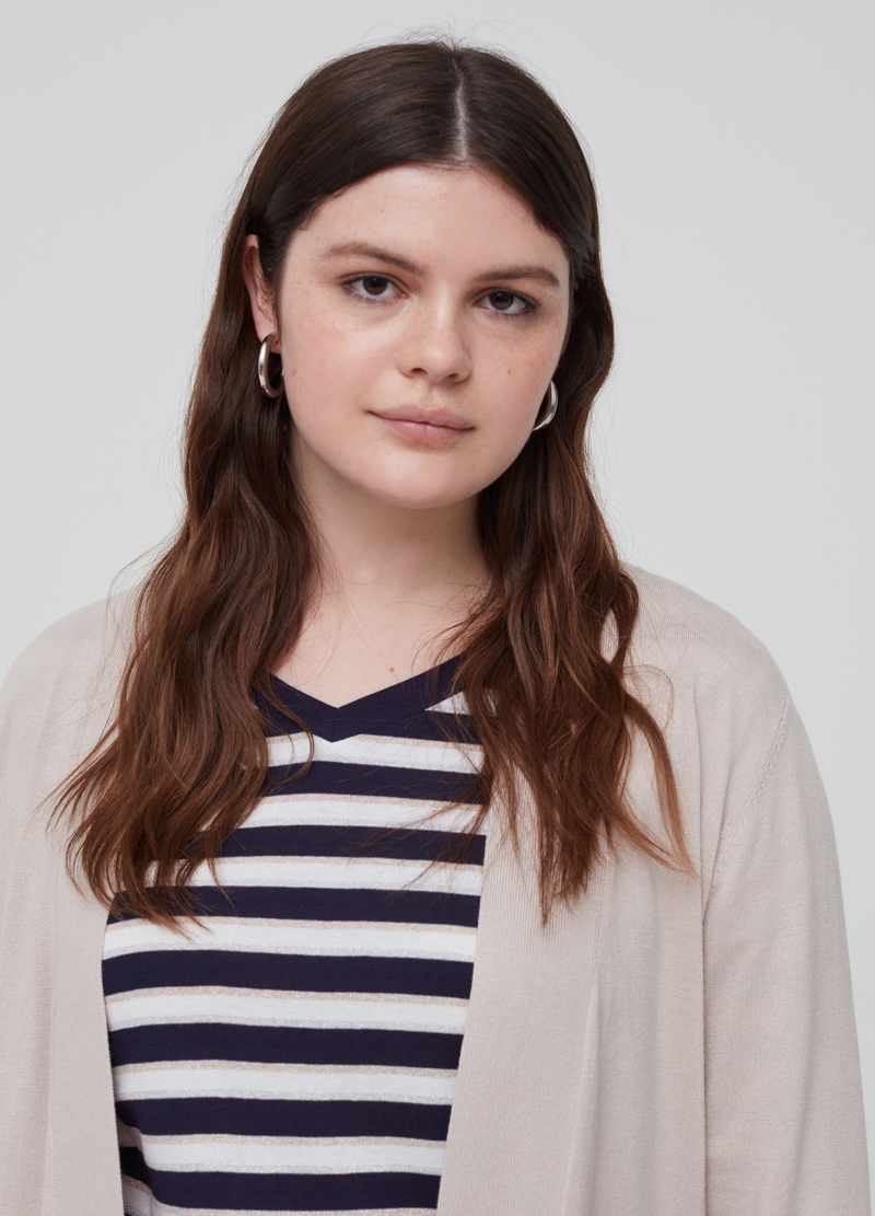 Curvy cardigan with pockets image number null