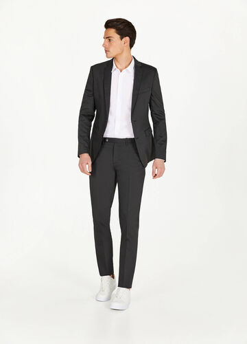 Slim-fit jacket in stretch viscose