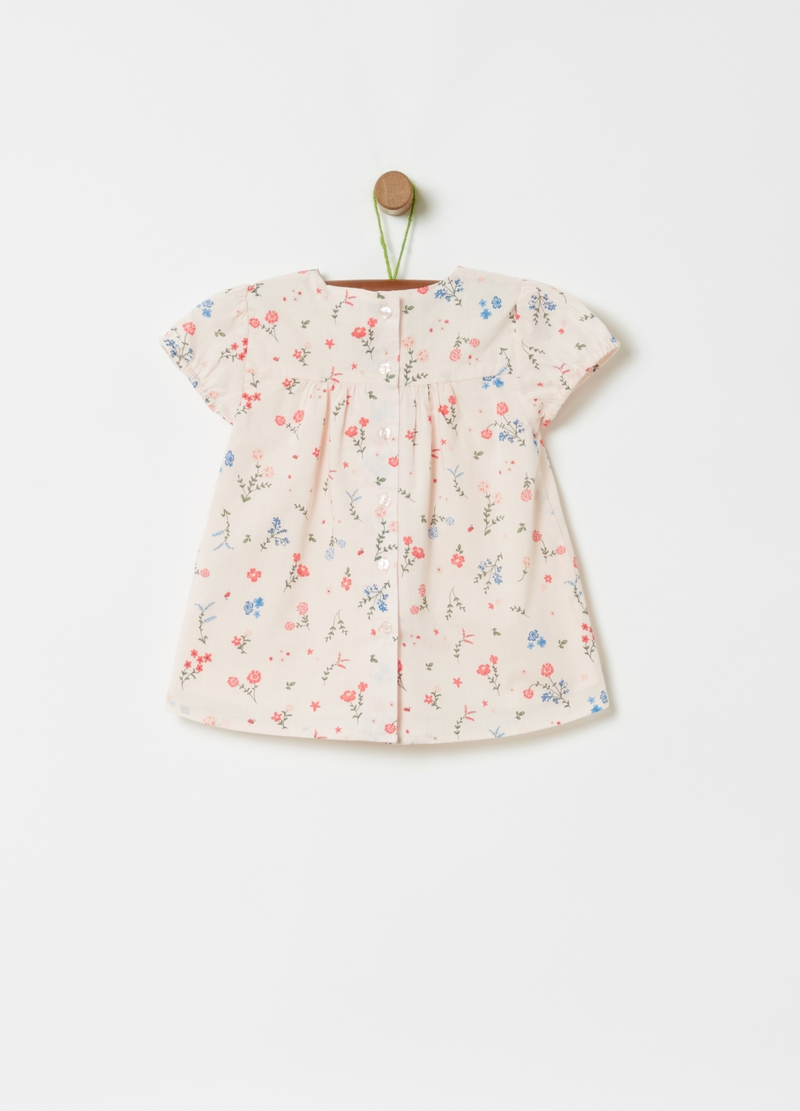 Blusa in puro cotone stampa all-over image number null