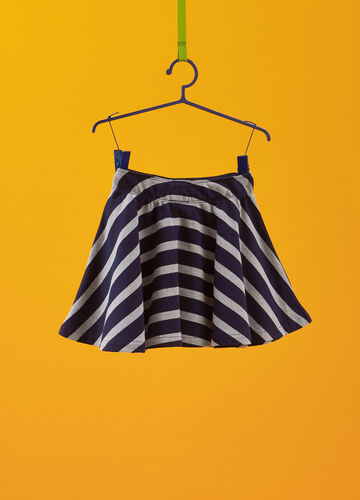 100% cotton skirt with striped pattern