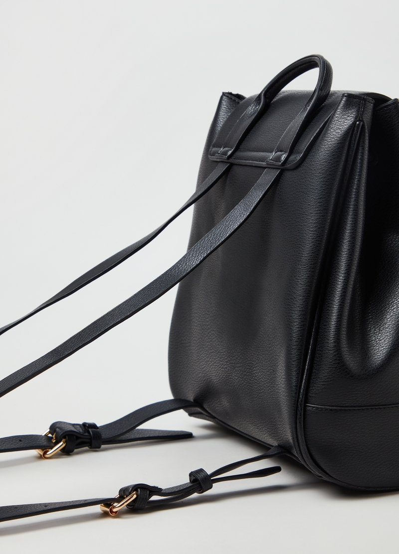 PIOMBO large textured-effect backpack image number null