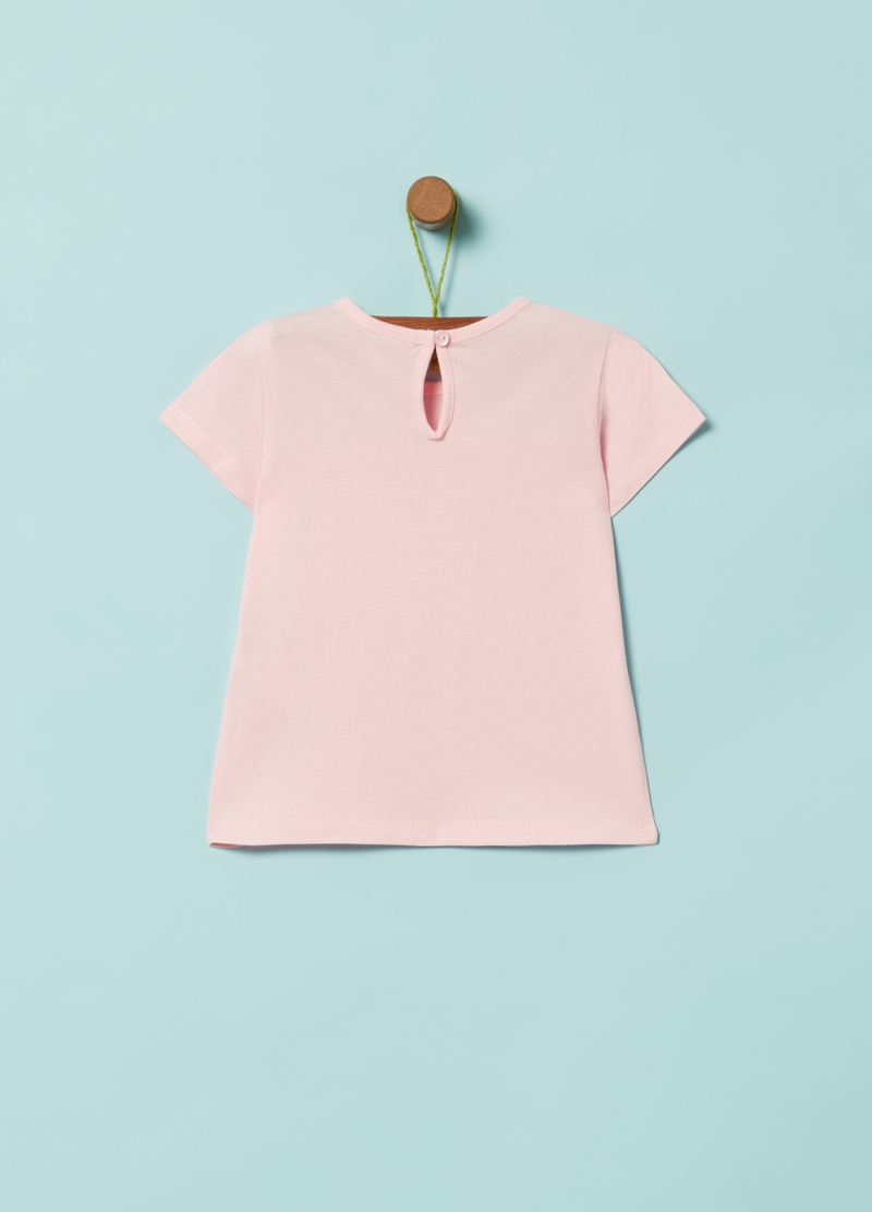 T-shirt in puro cotone stampa lettering image number null