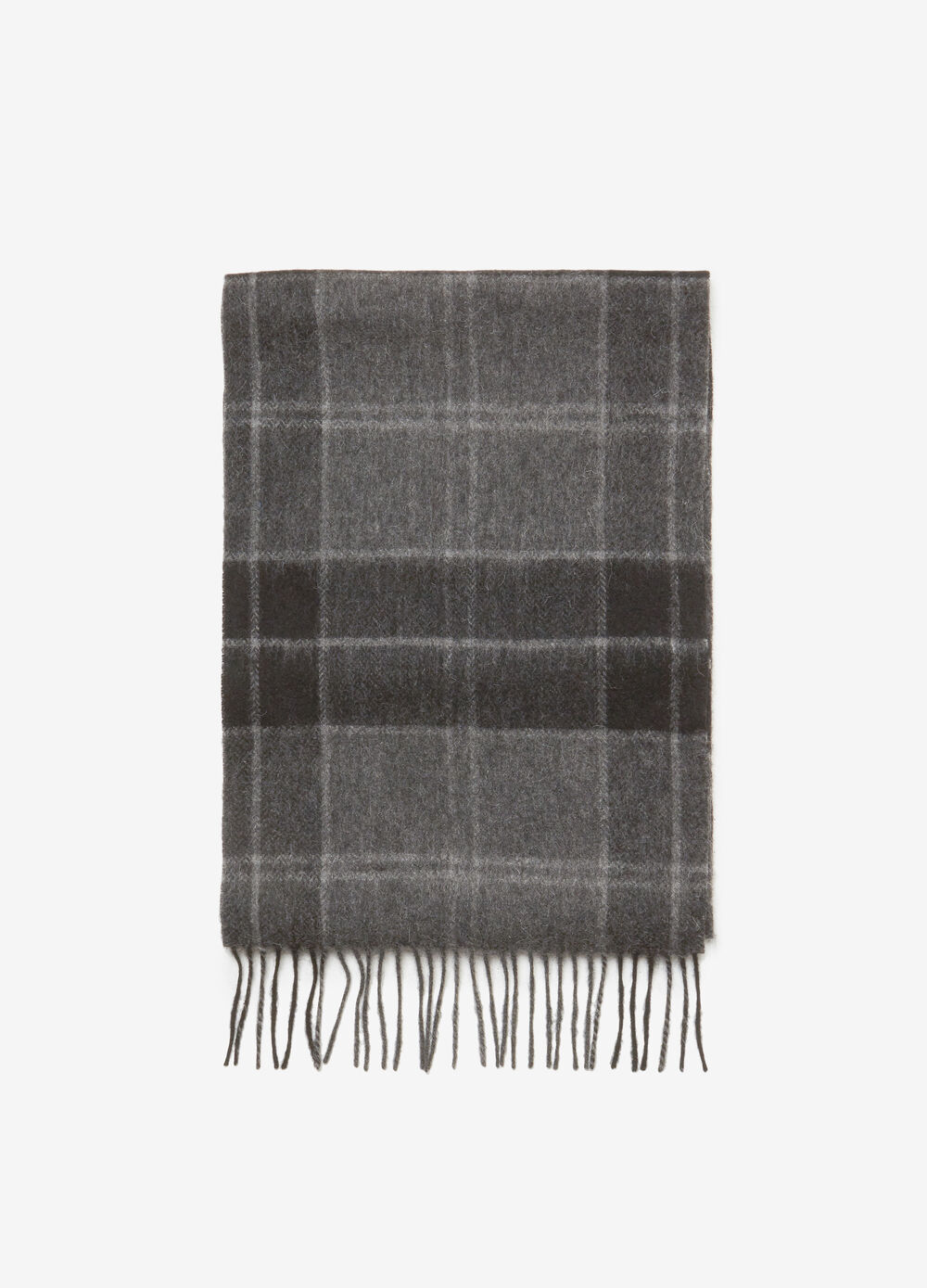 Check patterned scarf in 100% wool