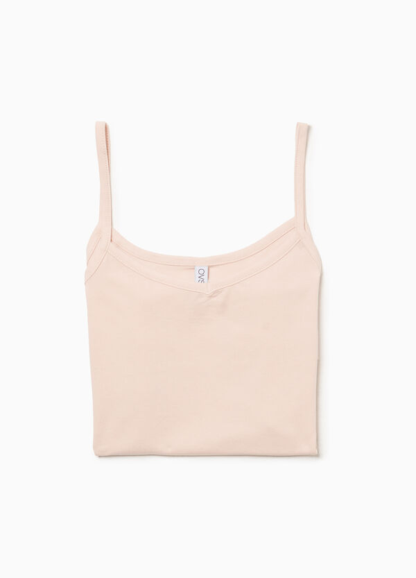 V-neck stretch cotton under top